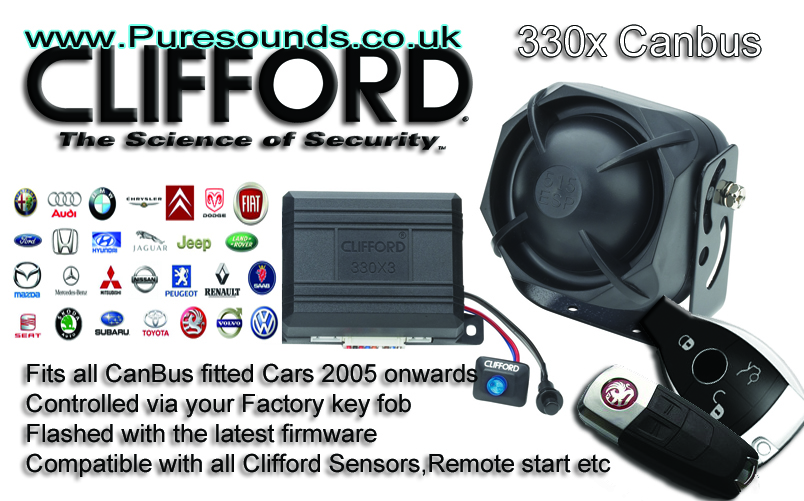 clifford car alarms viper alarms car alarm cat 1 car alarmsclifford canbus alarm system fully fitted ciifford 330x canbus alarm
