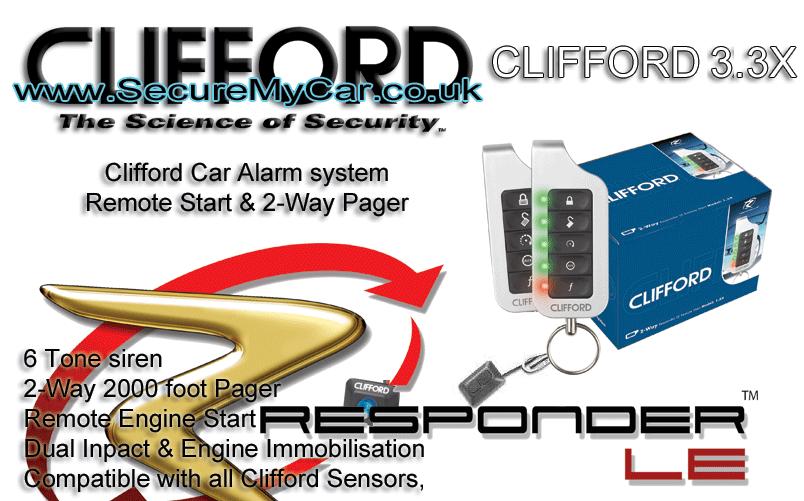 clifford 3 3x matrix car alarm remote engine start clifford 3 3x matrix car alarm system