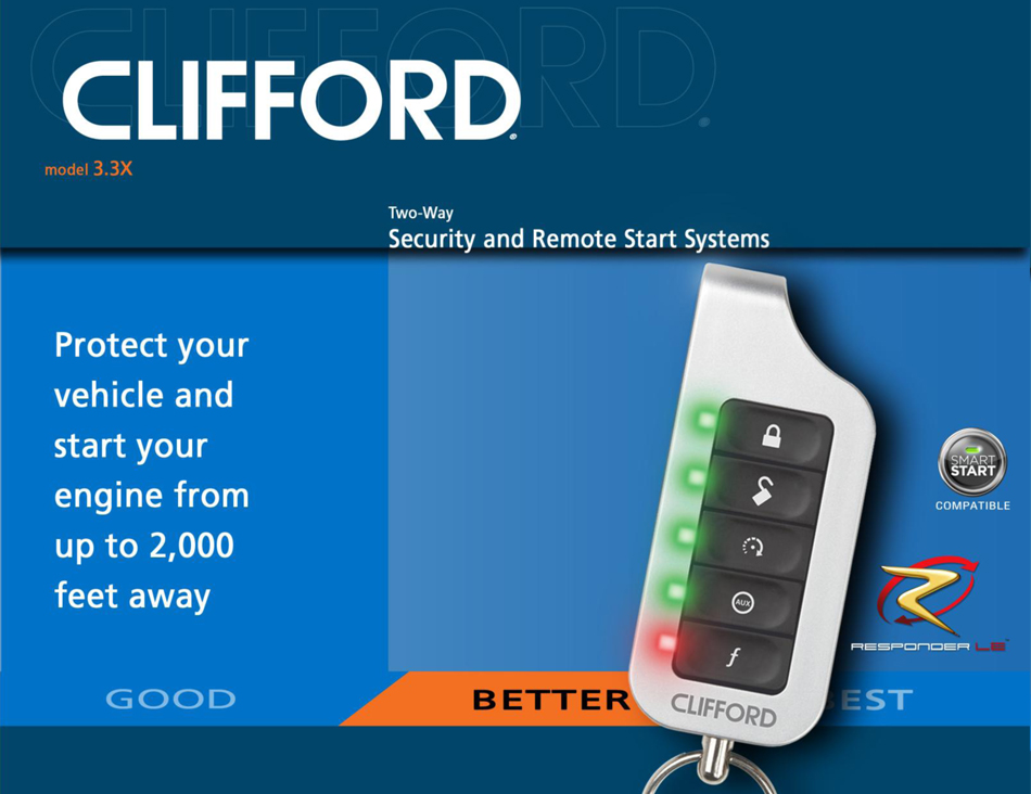 clifford matrix car alarm with remote engine start. Black Bedroom Furniture Sets. Home Design Ideas