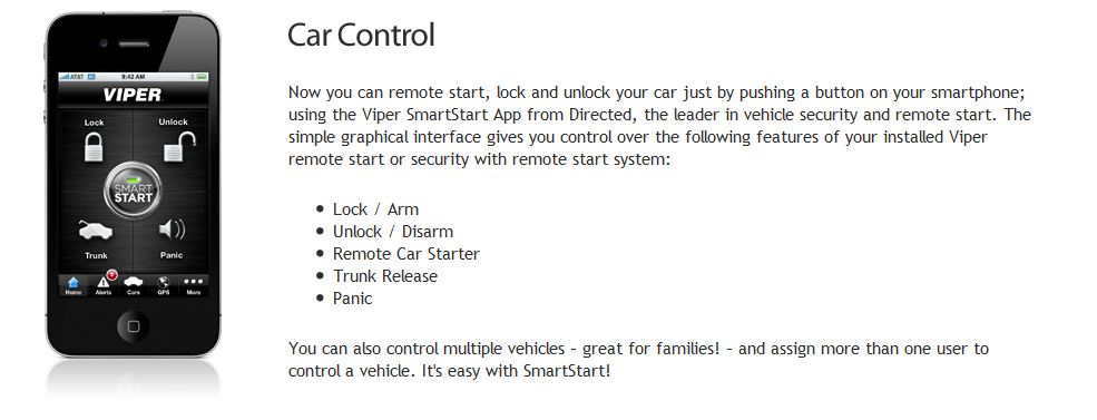 viper smartstart car alarms